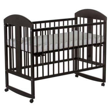 Кроватка детская Gnom Мишки (качалка-колесо) (венге)