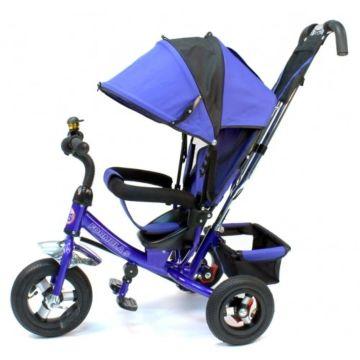 """Трехколесный велосипед Formula Trike F-5000 с надувными колесами 10"""" и 8"""" (синий)"""