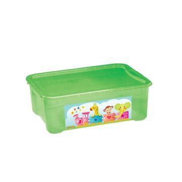 Корзина для игрушек Бытпласт Пластишка (Зелёный)