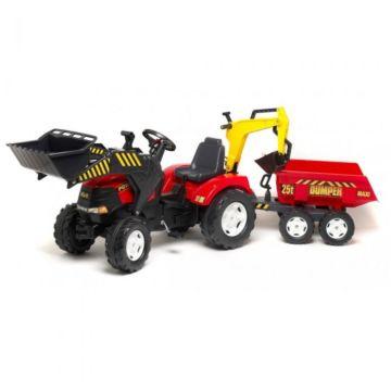 Трактор педальный Falk с ковшом (красный)