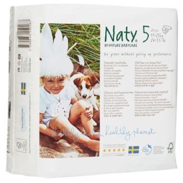 Подгузники Naty 5 (11-25 кг) 23 шт