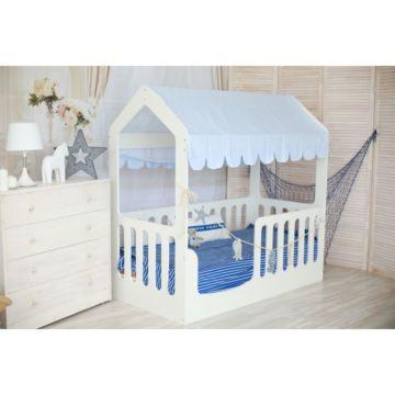 Кроватка-домик Мир Мебели (белая)