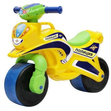 Беговел-мотоцикл RT Motobike Police со светом и сигналами (желтый)