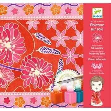 Набор для творчества Djeco Создание шелкового платка Японский сад