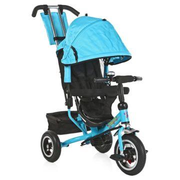 """Трехколесный велосипед Trike Flower с надувными колесами 10"""" и 8"""" (голубой)"""