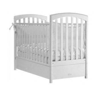 Кроватка детская Feretti FMS Sauvage (продольный маятник) (белая)