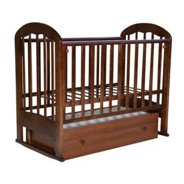 Кроватка детская Кедр Любаша 3 (поперечный маятник) (орех)