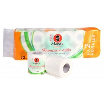 "Туалетная бумага Maneki (12 рулонов), аромат ""Японская айва"""