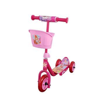 Самокат Toymart с корзиной Winx