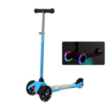 Самокат Ecoline Junior со светящимися колесами (голубой)