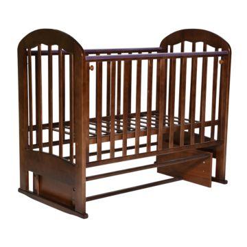 Кроватка детская Кедр Любаша 2 (поперечный маятник) (орех)