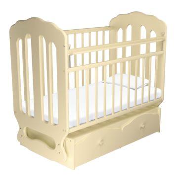 Кроватка детская Агат Папа Карло 2/2 (поперечный маятник) (Бежевый)