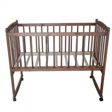 Кроватка детская Массив Беби 1 (качалка-колесо) (орех)