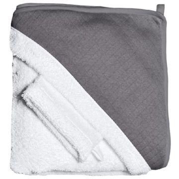 Махровое полотенце с уголком и варежка для купания Red Castle (бежево-коричневый)