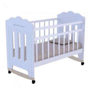 Кроватка детская ВДК Bonne (качалка-колесо) (белый)