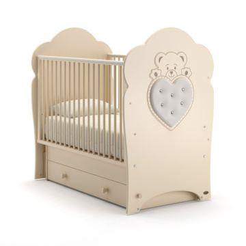 Кроватка детская Nuovita Fortuna Swing (поперечный маятник) (слоновая кость)