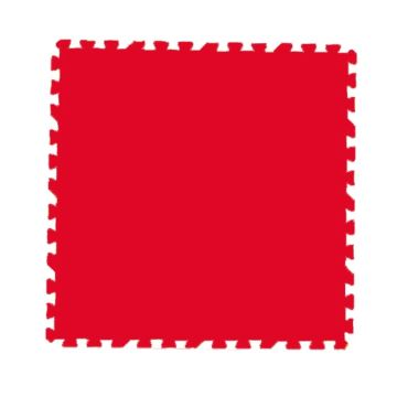 Мягкий пол Экополимеры 100*100 (красный)