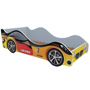 Кровать-машина Кроватка5 Машинки (Спорт желтая)