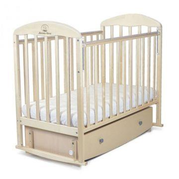 Кроватка детская Альма-Няня Венеция с ящиком (поперечный маятник) (береза)