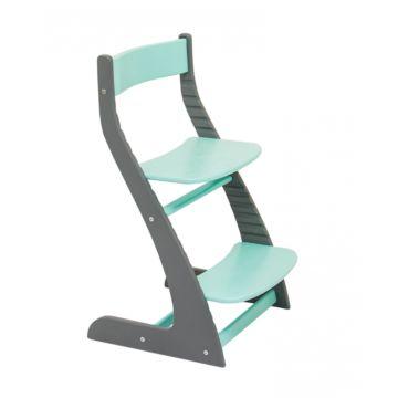Растущий стул Бельмарко Усура двухцветный (графит-мятный)