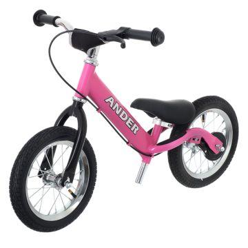 Беговел Ander с надувными колесами (розовый)