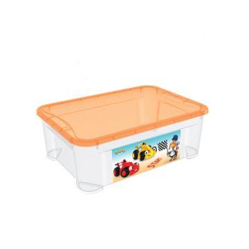 Корзина для игрушек Бытпласт Пластишка (Бело-оранжевый)