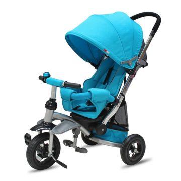"""Трехколесный велосипед Modi AIR Stroller с надувными колесами 10"""" и 8"""" (голубой)"""