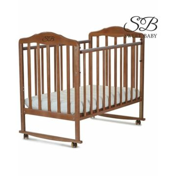 Кроватка-качалка Sweet Baby Lorenzo (378) (Орех)