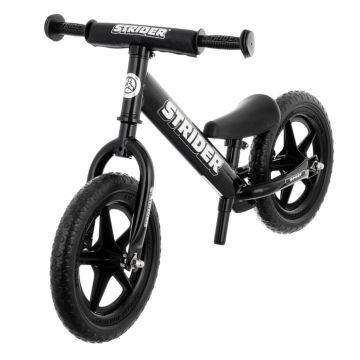 """Беговел Strider 12"""" Sport (с удлиненным штырем для седла в комплекте) (черный)"""