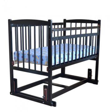 Кроватка детская Массив Беби 4 (поперечный маятник) (венге)