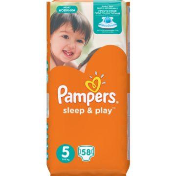 Подгузники Pampers Sleep&Play Junior (11-18 кг) Ромашка 58 шт