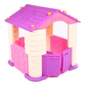 Игровой домик Edu Play часть A+B (Розово-фиолетовый)