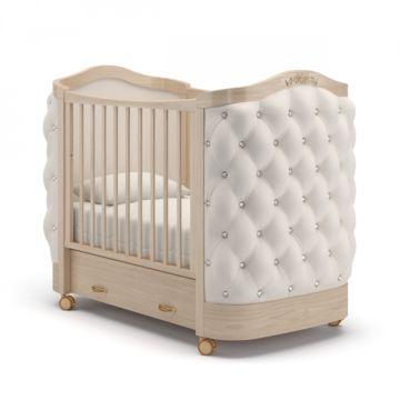Кроватка детская Гандылян Тиффани со стразами (колесо) Бук