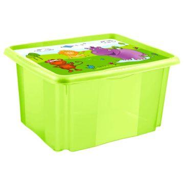 Ящик для хранения игрушек OKT Stack&Go Бегемотик (45 л)