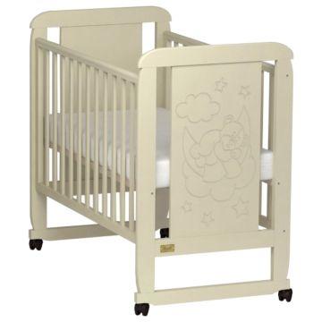 Кроватка детская Kitelli Orsetto (колеса-качалка) (Бежевый)