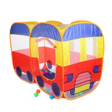 Детская палатка с шарами двойная Yako Автобус