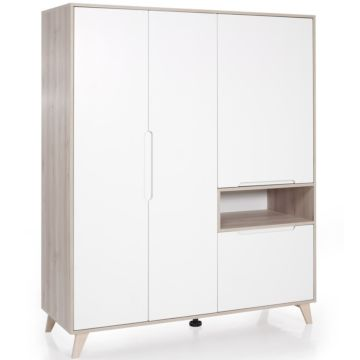 Шкаф трехсекционный Geuther Mette (белый/дуб)