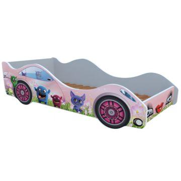 Кровать-машина Кроватка5 Машинки (Лесные зверушки)