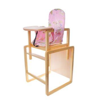 Стул-стол для кормления Вилт Алекс (розовый)