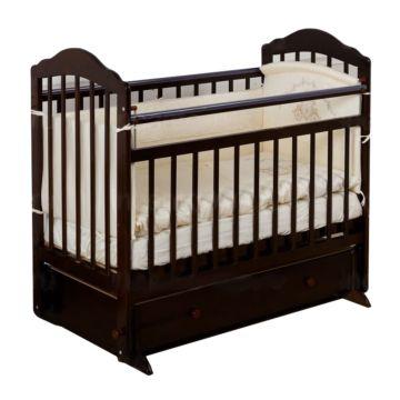 Кроватка детская с ящиком Incanto Pali (поперечный маятник) (темный)