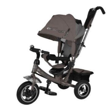 """Трехколесный велосипед Trike Power Neon с надувными колесами 10"""" и 8"""" (темно-серый)"""