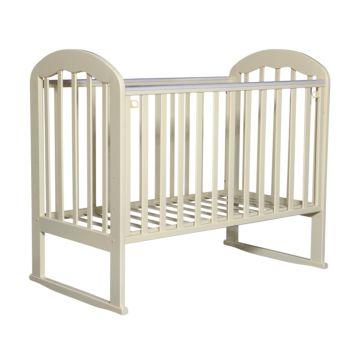 Кроватка детская Кедр Любаша 1-2 (качалка-колесо) (слоновая кость)