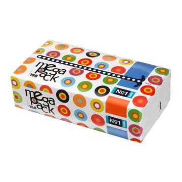 Платочки бумажные Bella №1 двухслойные MegaPack 150 шт