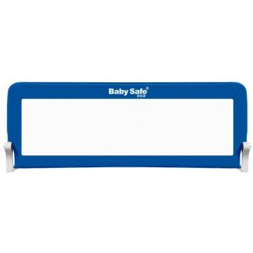 Барьер безопасности для кроватки Baby Safe Прямоугольник 180х42см (Синий)
