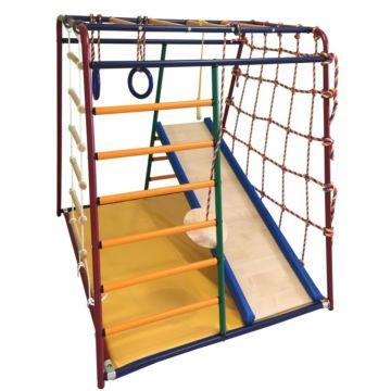 Детский спортивный комплекс Вертикаль Веселый Малыш Maxi с мягкой горкой