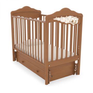 Кроватка детская Angela Bella Изабель (универсальный маятник) (вишня)