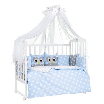 Комплект постельного белья Sweet Baby Uccellino Blu (7 предметов, бязь)