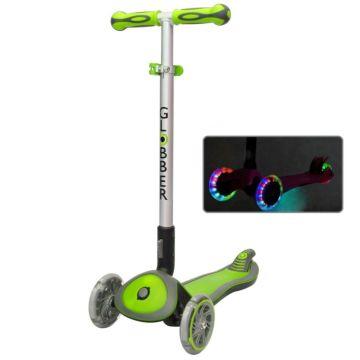 Самокат Globber Elite SL My free Fold up со светящимися колесами (Green)