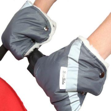 Муфта-варежки для коляски Bambola (серый)
