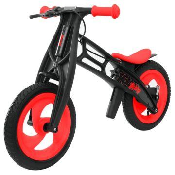 Беговел Hobby Bike FLY B (шины - волна) (красный/черный)